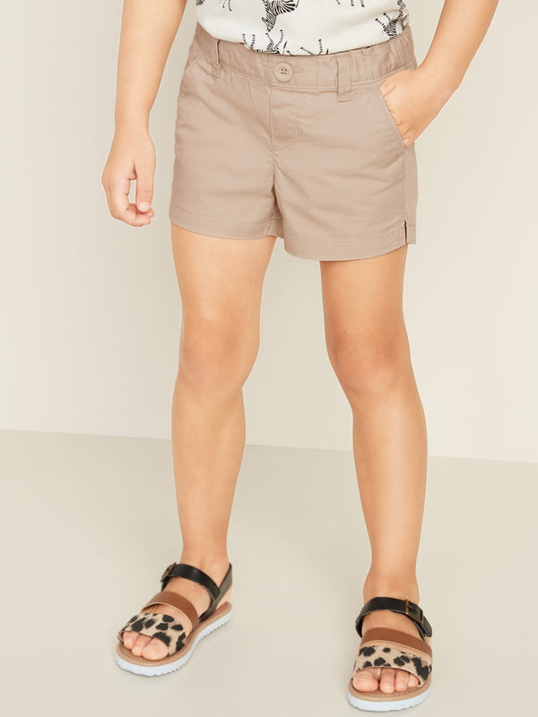 ON Pull-On Twill Shorts For Toddler Girls - Upper Crust