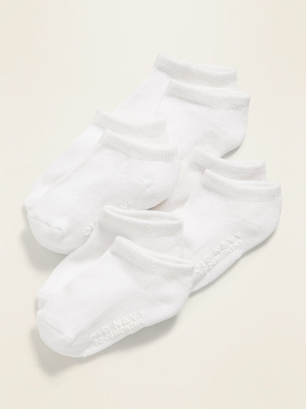 ON Accesorio Ankle Socks 4-Pack For Toddler & Baby - Blanco Brillante