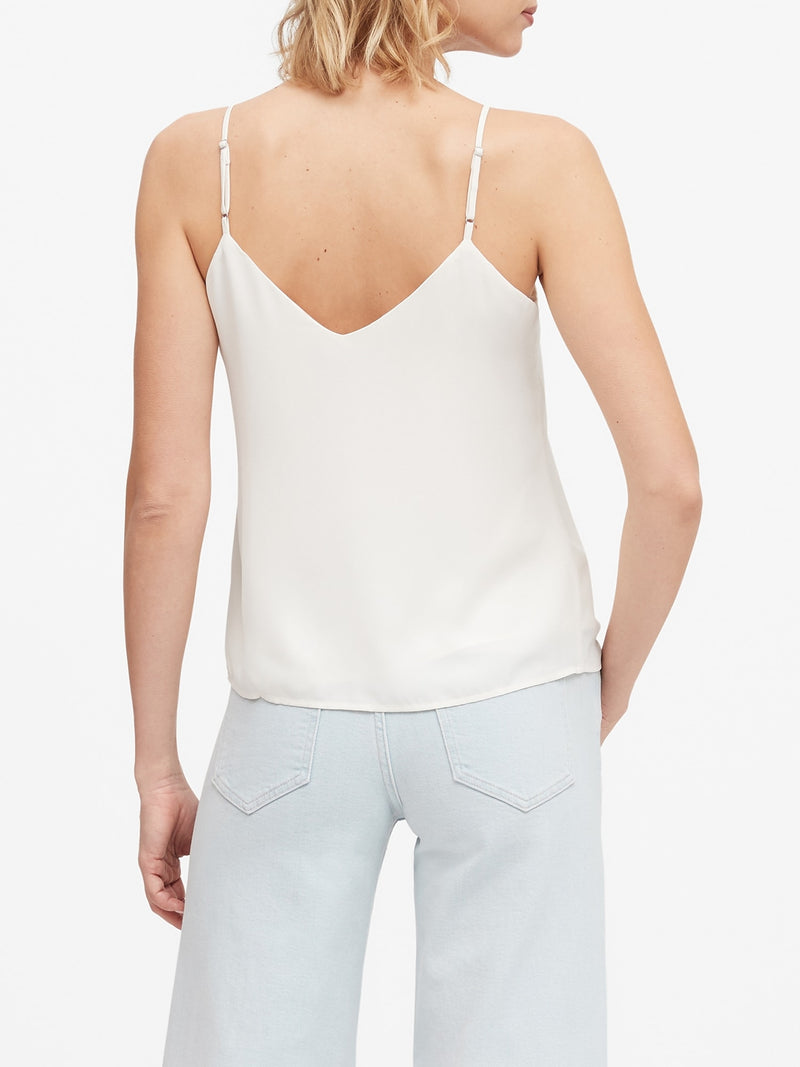 BR Solid Strappy Camisole - Snow Day
