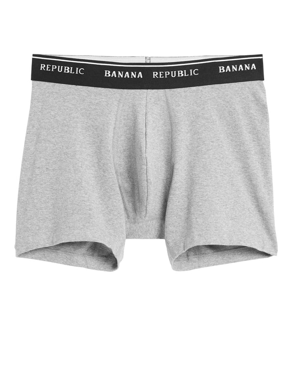 BR Accesorio Stretch Supima® Cotton Boxer Brief - Gris Heather