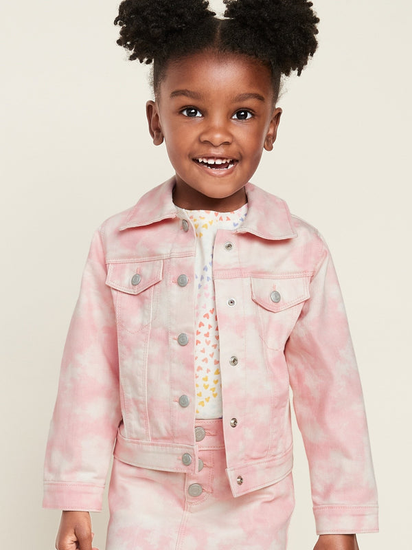 ON Denim Tie-Dye Jean Jacket For Toddler Girls - Rosa Tie Dye