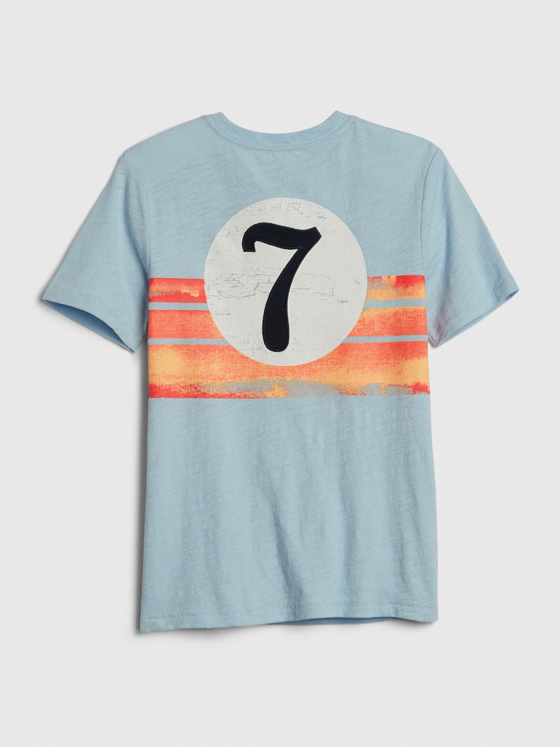 Gap Kids Graphic Short Sleeve T-Shirt - Azul