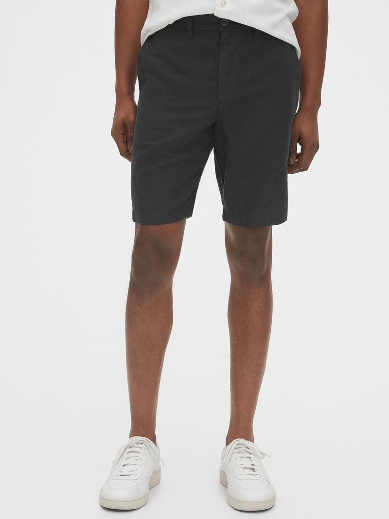 Shorts-New Linen 10 Inch-Moonless Night