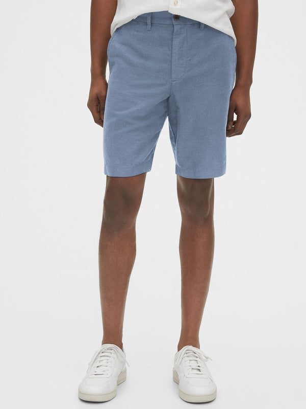 Shorts-New Linen 10 Inch-BLUE CHAMBRAY