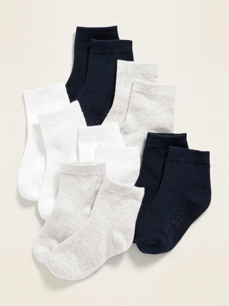 ON Accesorio 6-Pack Crew Socks For Baby - Azul