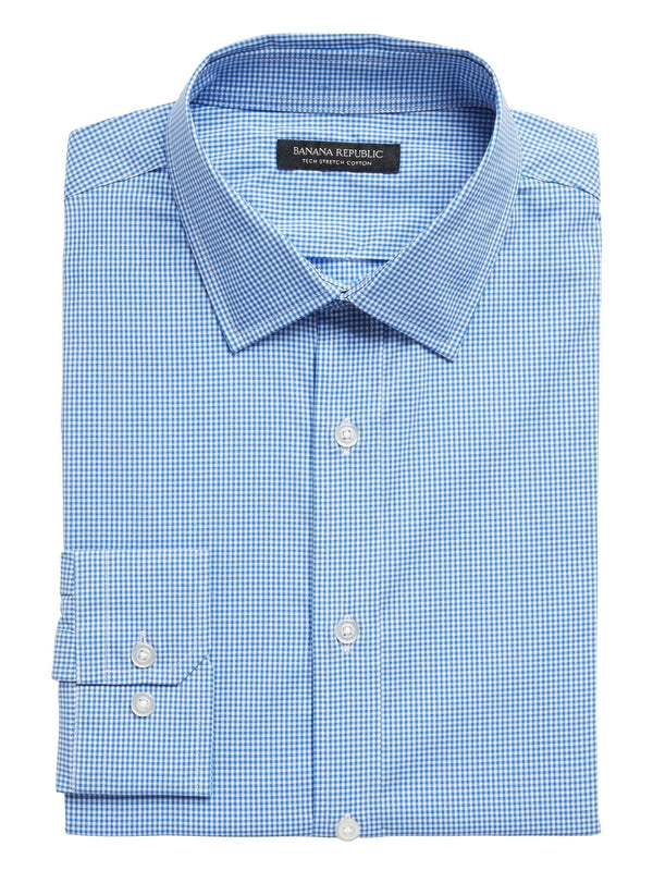 Camisa-Tech Mini Gingham-Electric Blue