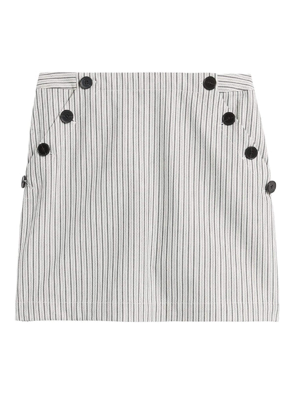 Enagua-Button Side Mini Stripe-Blue Stripe