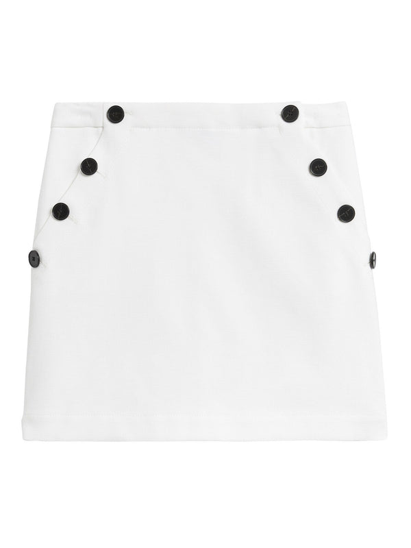 Enagua-Button Side Mini Solid-White