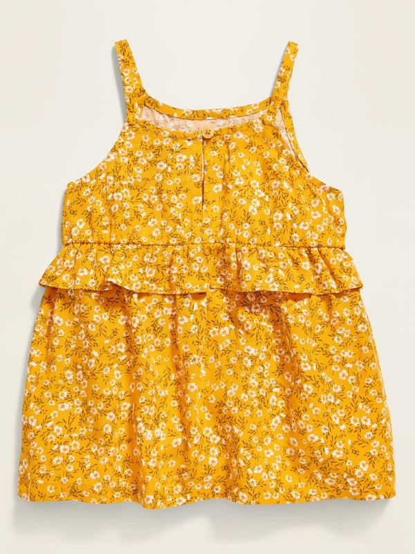 Camisa Floral-Print Ruffle-Tiered Cami For Toddler Girls - Squash Blossom
