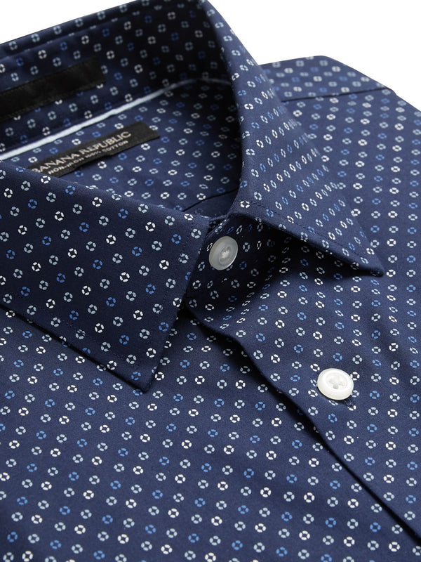 BR Camisa Slim-Fit Non-Iron Dress Shirt - Navy