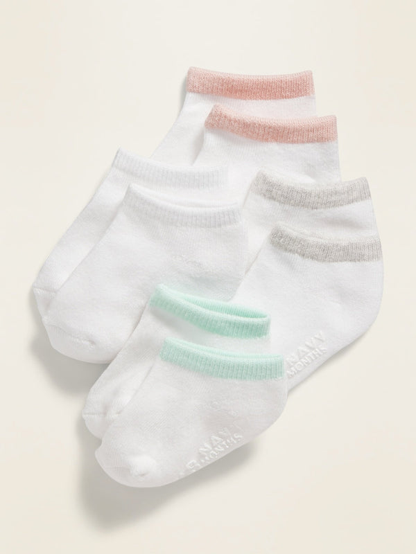 ON Accesorio Ankle Socks 4-Pack For Toddler & Baby - Girl