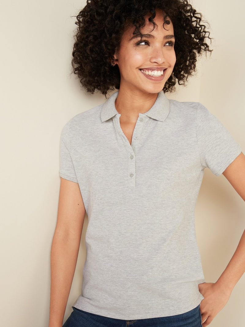 ON Uniform Pique Polo For Women - Heather Gris