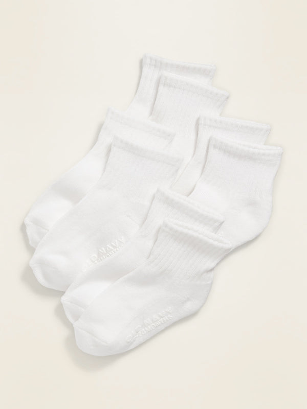 ON Accesorio Crew Socks 4-Pack For Toddler & Baby - Bright Blanco