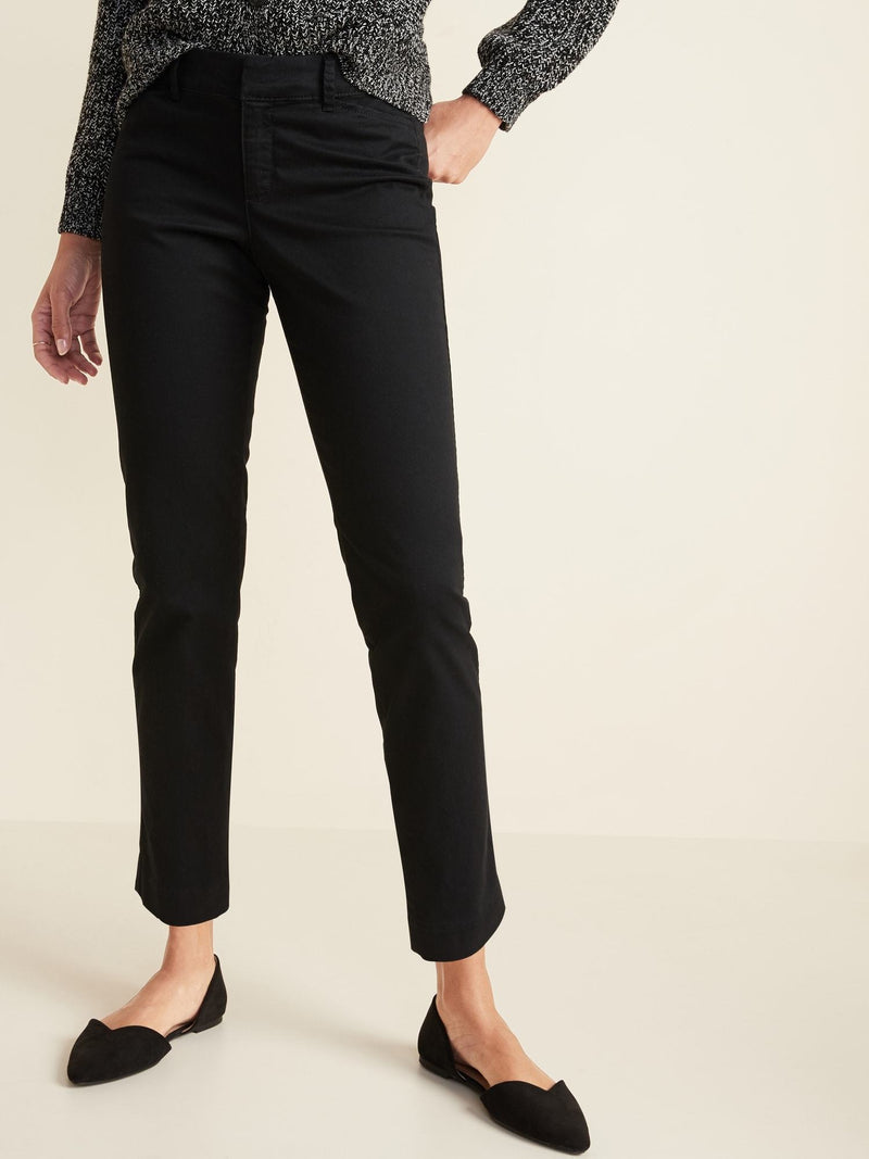 ON Pantalón Mid-Rise Pixie Ankle Chinos For Women - Darkest Hour