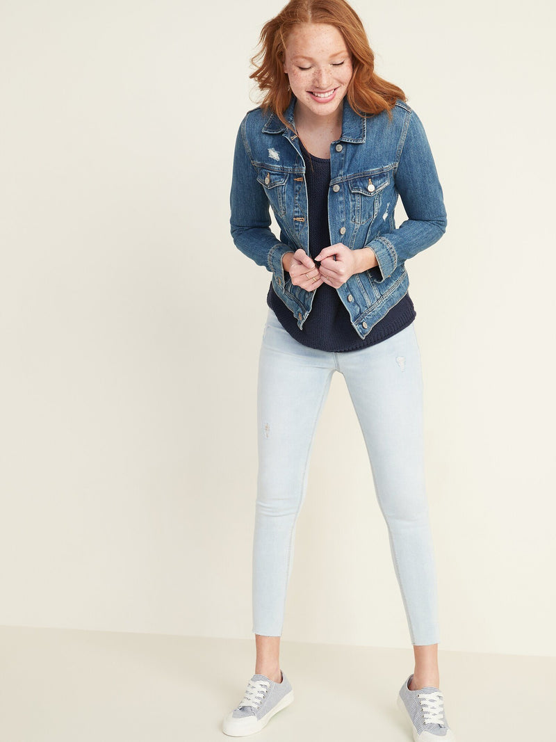 Denim-Fashion Jegging Light Hem Hack-Daisy