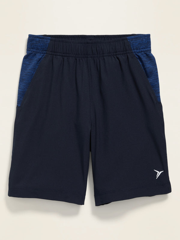 ON Color-Blocked 4-Way-Stretch Run Shorts for Boys - In The Navy
