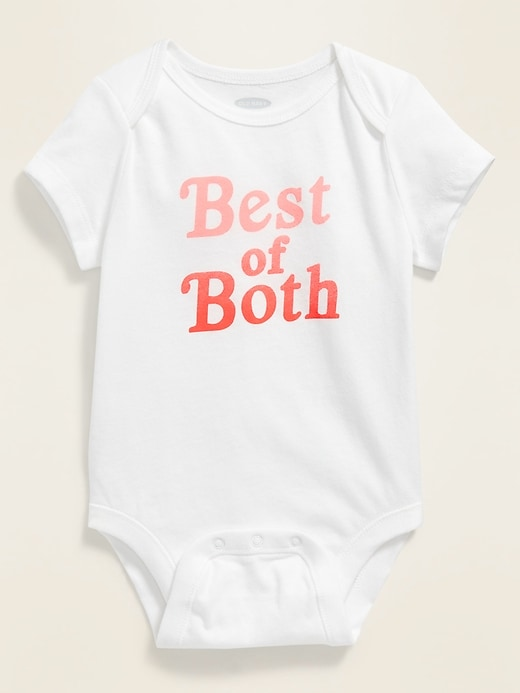 ON OnePiece - Graphic Bodysuit for Baby - Blanco