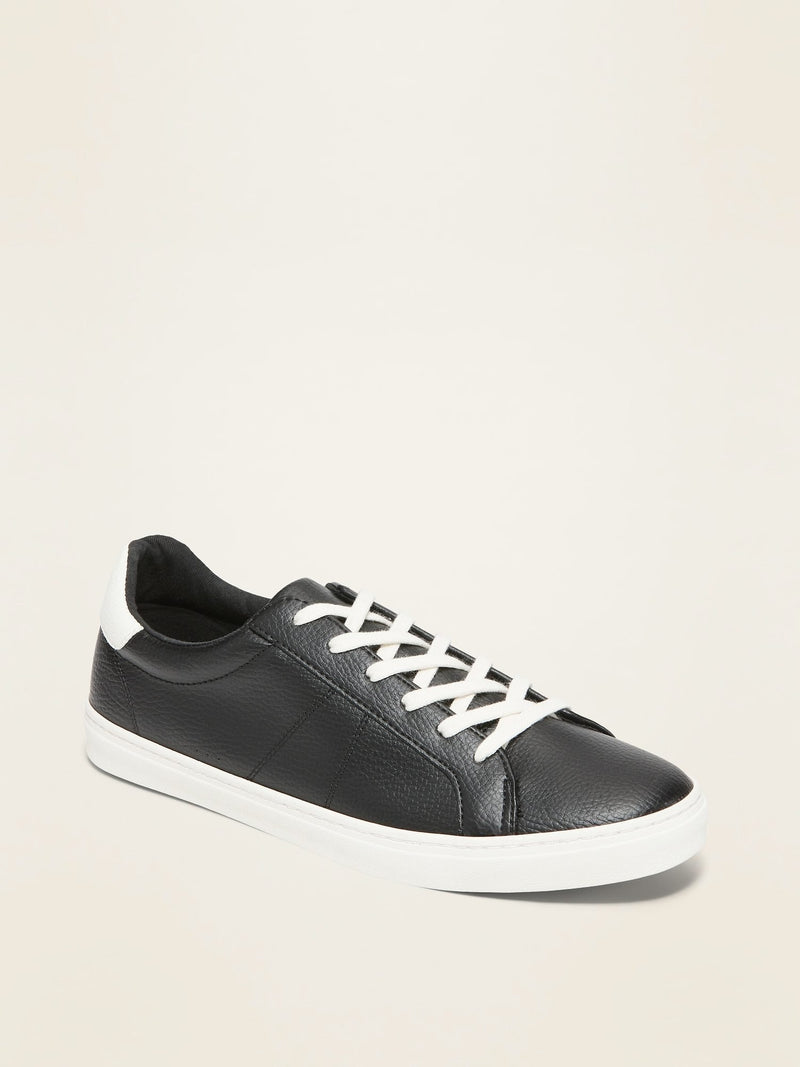 ON Zapato Faux-Leather Sneakers For Women - Negro Jack