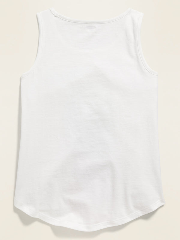 ON Graphic Tank Top For Girls - Calla Lily