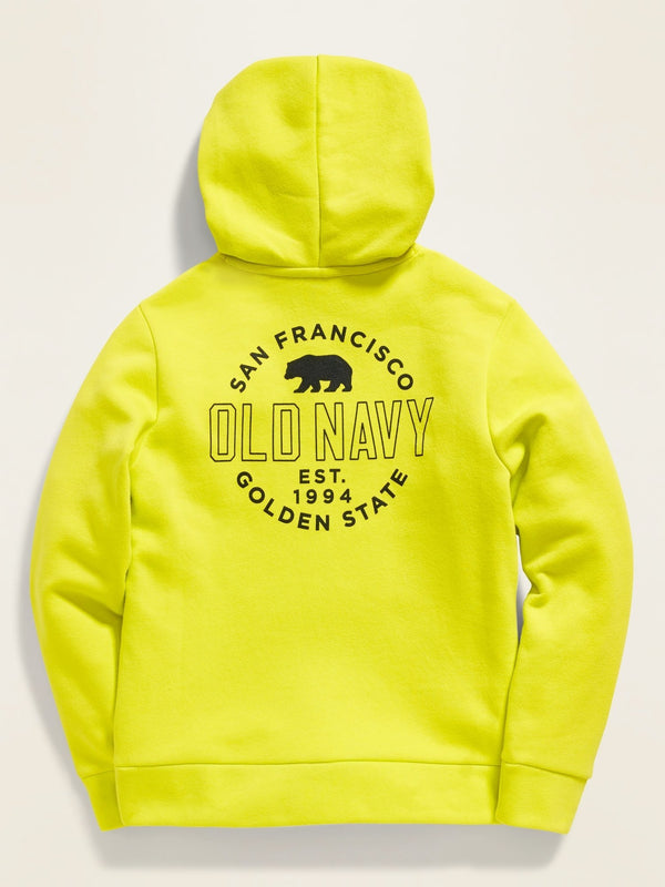 ON Sudadera Logo-Graphic Pullover Hoodie For Boys - Lime Thyme
