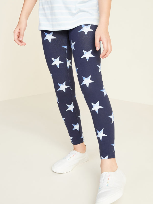 ON Pantalón Printed Built-In Tough Full-Length Leggings for Girls - 4Th Azul Stars