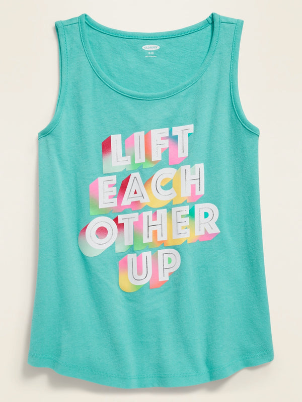 ON Graphic Tank Top for Girls - Illusion
