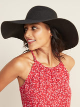 ON Accesorio Braided Wide-Brim Sun Hat for Women - Negro Jack
