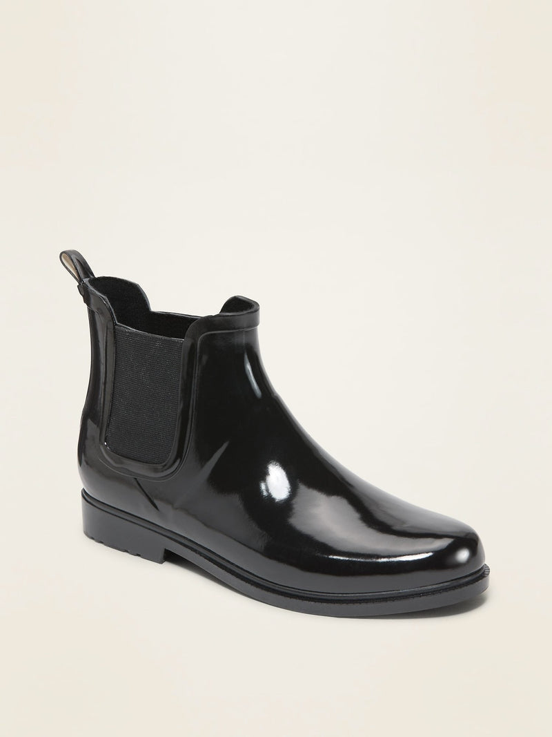ON Zapato Ankle Rain Boots For Women - Negro Jack