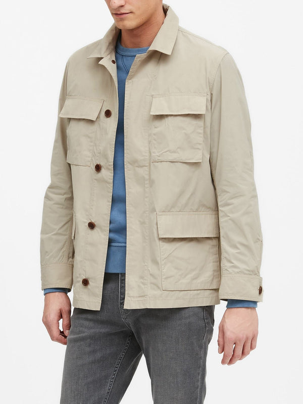 BR Jacket Water-Resistant Utility Jacket - Natural Stone