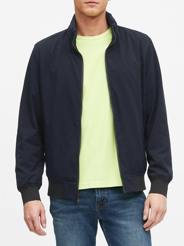 BR Jacket Motion Tech Perforated Bomber Jacket - Navy
