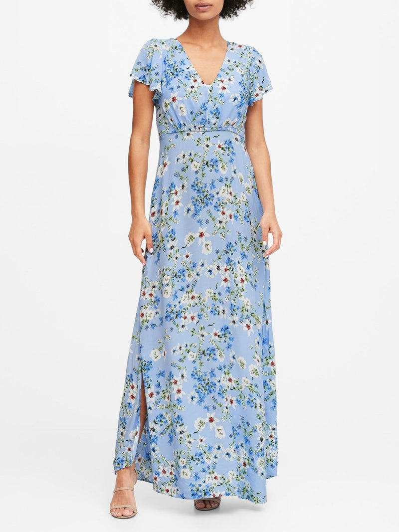 BR Vestido ECOVERO Maxi Dress - Light Azul Romantic