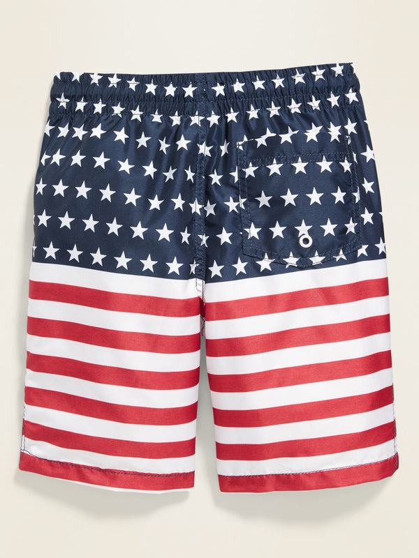 ON Ejercicio Graphic Swim Trunks for Boys - Americana