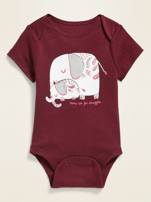 ON Camiseta Graphic Bodysuit for Baby - Mom Elephant