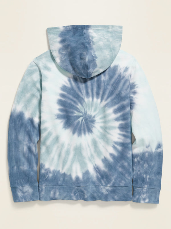 ON Sudadera Garment-Dyed French Terry Pullover Hoodie for Boys - Cool Tie Dye