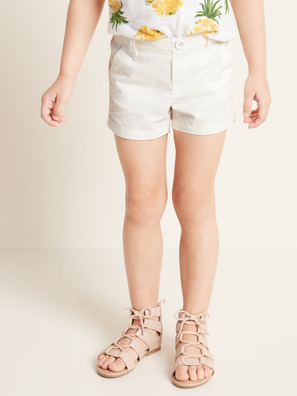 ON Pull-On Twill Shorts for Toddler Girls - Sea Salt
