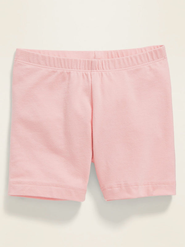 ON Jersey Bike Shorts For Toddler Girls - Blush Hue