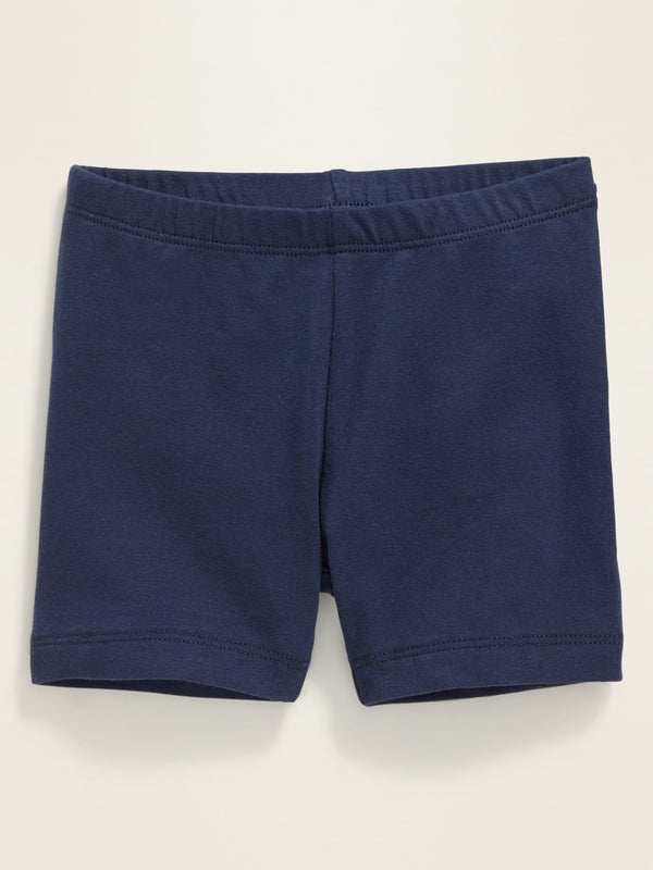 ON Jersey Bike Shorts For Toddler Girls - Lost At Sea Navy