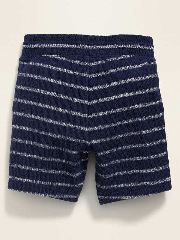 ON Patterned French Terry Shorts for Toddler Boys - Lost At Sea Navy