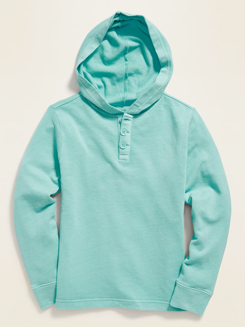 ON Ejercicio Dip-Dye Pullover Henley Hoodie for Boys - Illusion