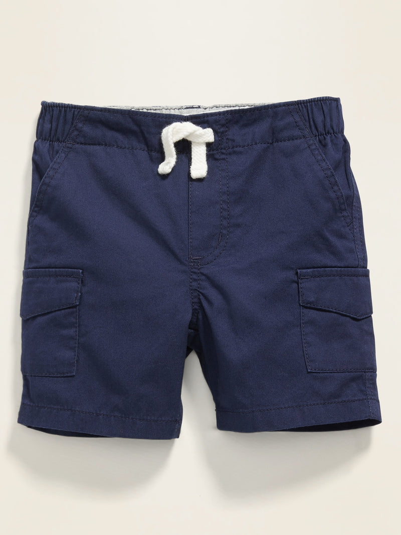 ON Twill Pull-On Cargo Shorts for Baby - Lost At Sea Navy