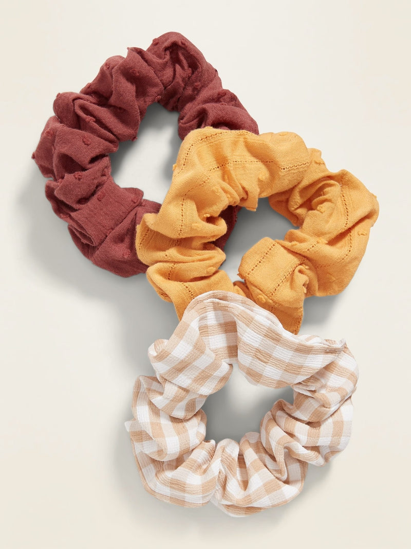 Colas-3-Pack Scrunchies-Warm Multi