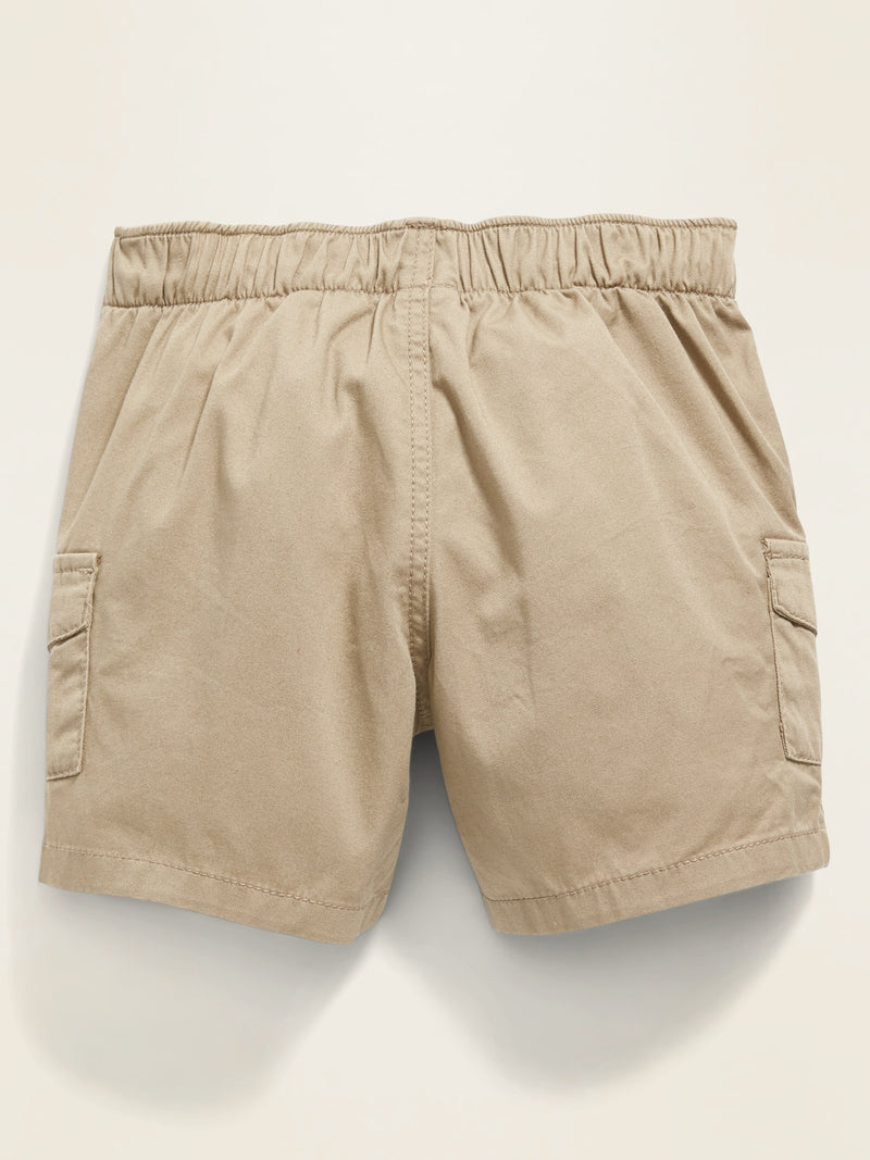 ON Twill Pull-On Cargo Shorts for Baby - Toasted Almond