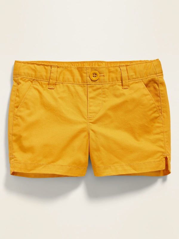 ON Pull-On Twill Shorts For Toddler Girls - Squash