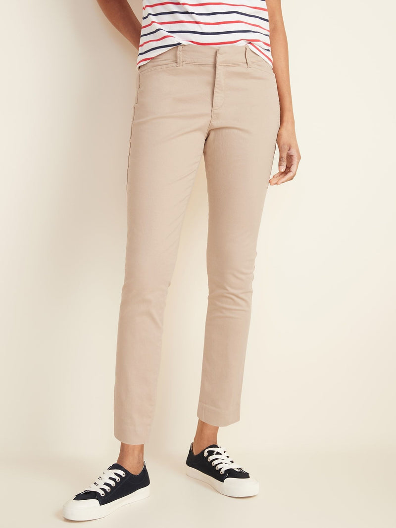 ON Pantalón Mid-Rise Pixie Ankle Chinos For Women - Upper Crust