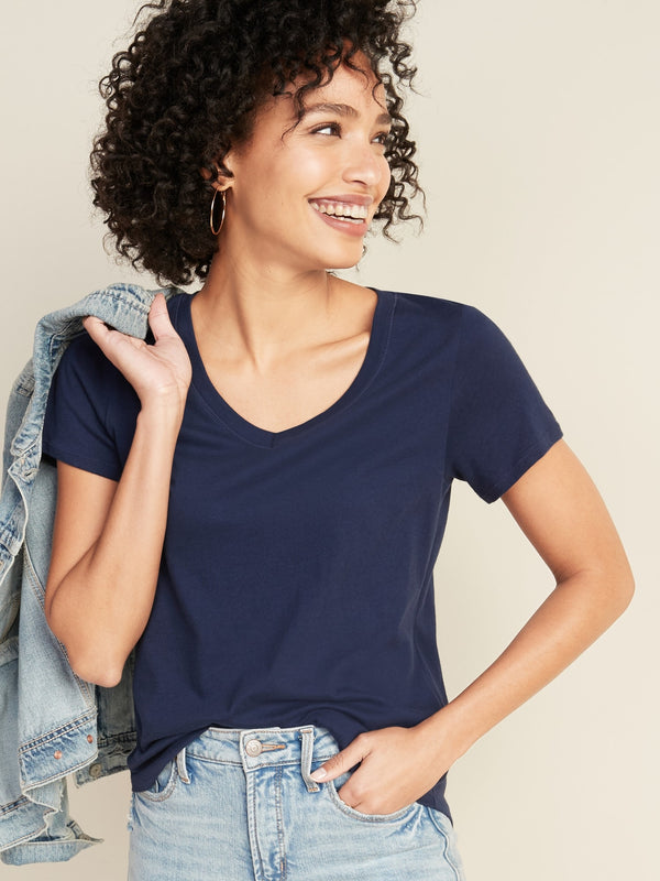 ON EveryWear V-Neck Tee for Women - Lost At Sea Navy
