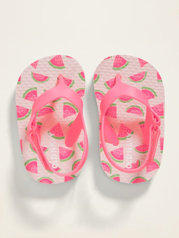 ON Printed Flip-Flops for Baby - Watermelon