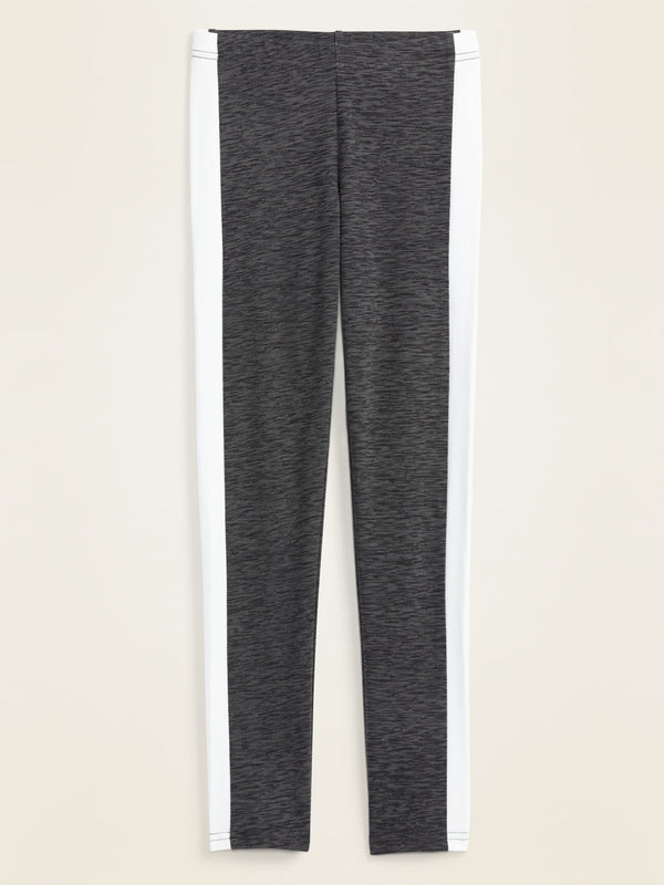 ON Pantalón Built-In Tough Full-Length Side-Stripe Leggings for Girls - Medium Charcoal