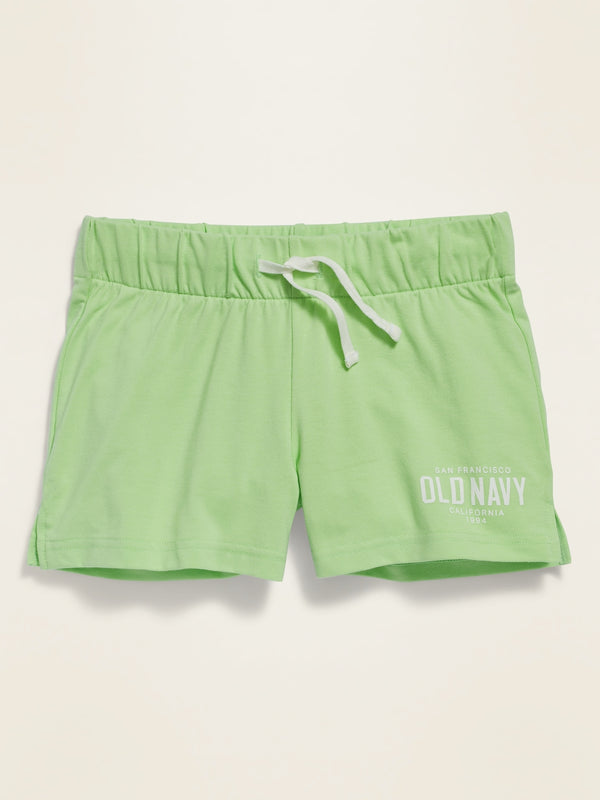 ON Drawstring Jersey Shorts For Girls - Soft Limon