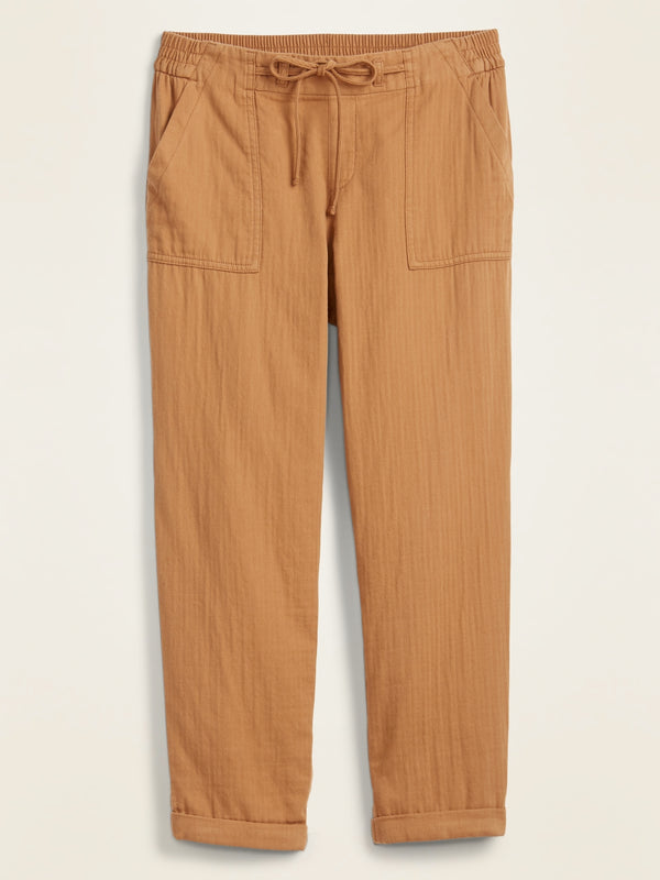 ON Pantalón Mid-Rise Soft-Twill Utility Pants for Women - Creme Caramel