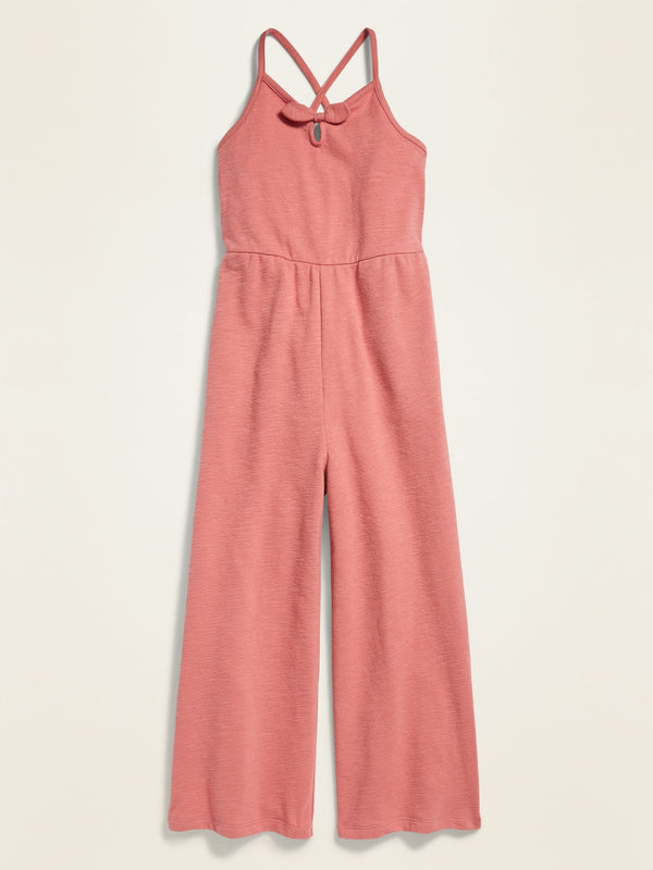ON Jersey Smocked-Back Cami Jumpsuit For Girls - Cocoa Pink